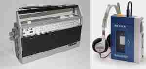 Sony EFM-117J radio and Walkman