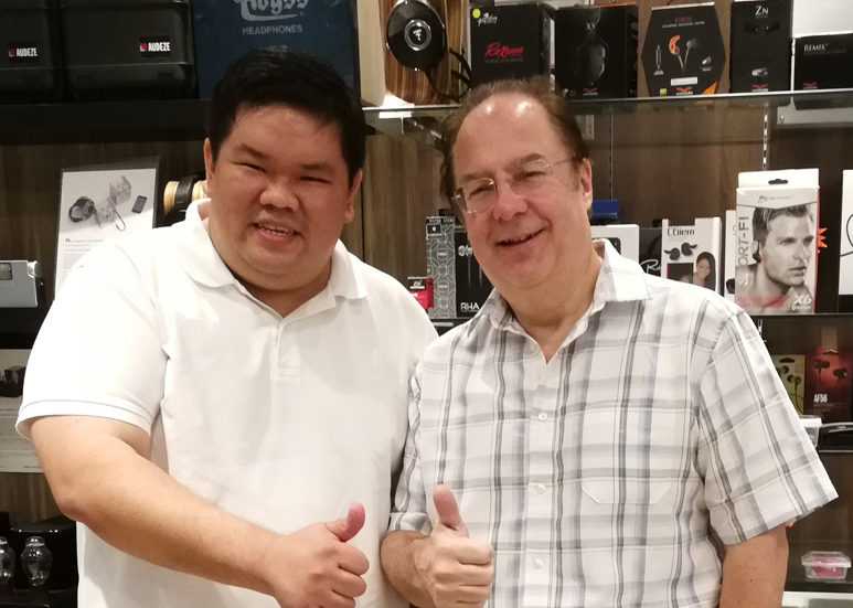 Robert Watts with Goh Beng Yeow