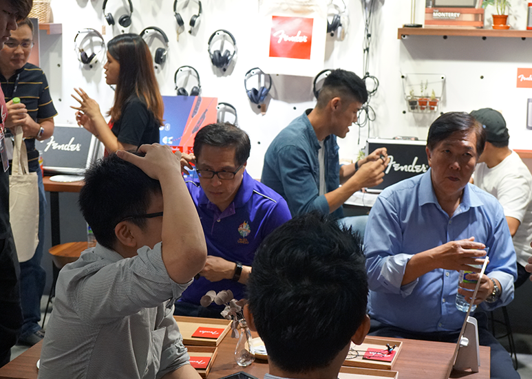 Enthusiasts at Fender Listening Event
