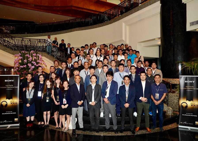 Group Photo of Sony Asia Pacific Exclusive Experience Event