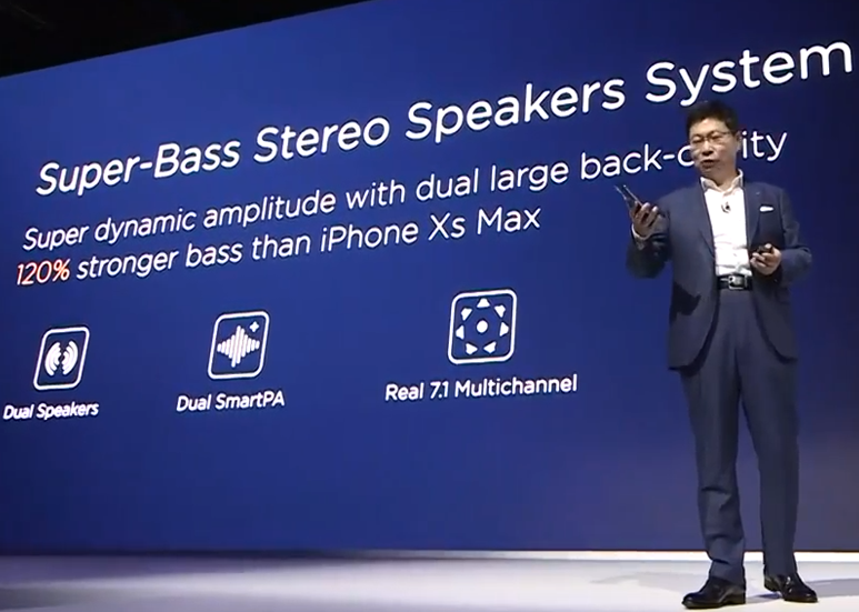 Huawei Mate20 X - Super-Bass Stereo Speakers System