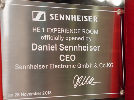 Sennheiser Experience Centre Opening Plaque