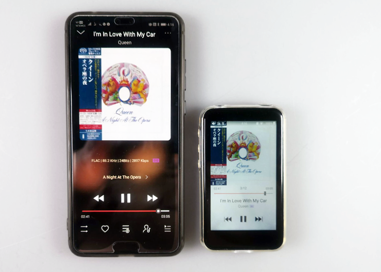 FiiO Link via FiiO Music App with FiiO M6 via Bluetooth
