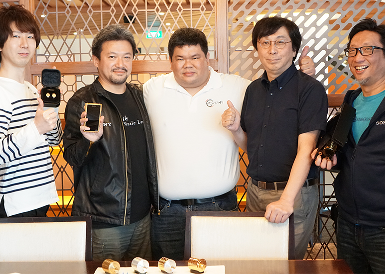 Our Editor Beng Yeow with the Engineers of the Sony Signature Series