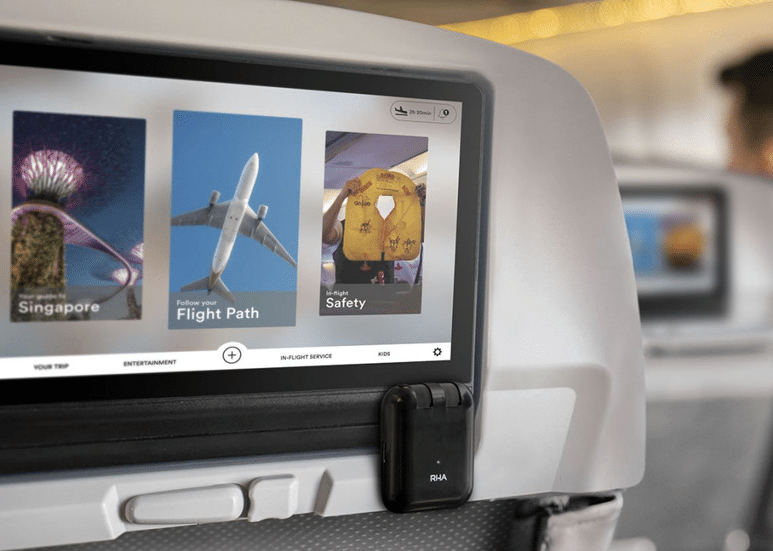 RHA Wireless Flight Adapter with In-Flight Entertainment System