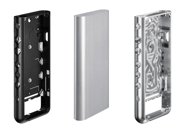 Sony NW-ZX507 - Anodised aluminium milled frame