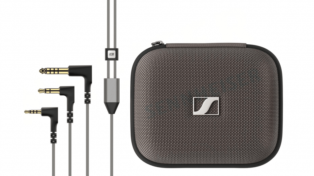 Sennheiser IE 900 - standard 3.5 mm single-ended cable, 2.5 mm, and 4.4 mm balanced cables, a serialised premium carrying case